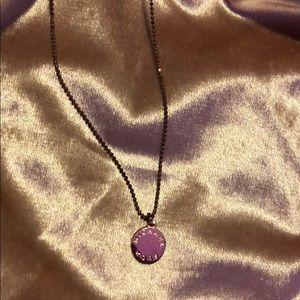 Michael kors rose gold necklace